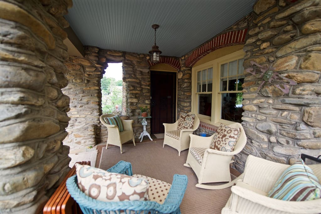 Relax on covered front porch.