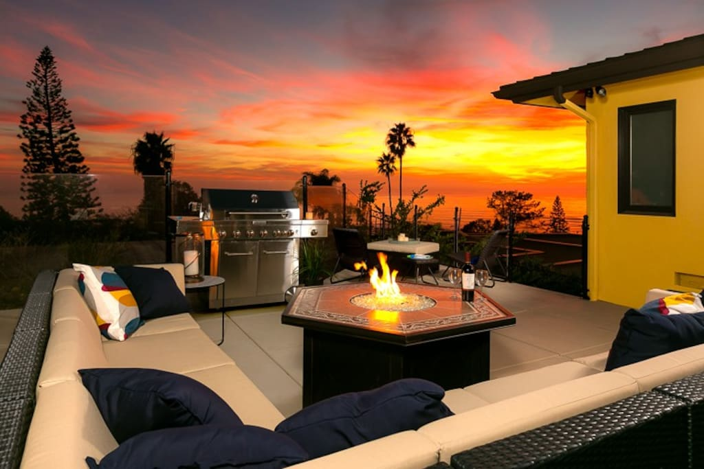 Stellar sunset and ocean views from Patio/Deck.