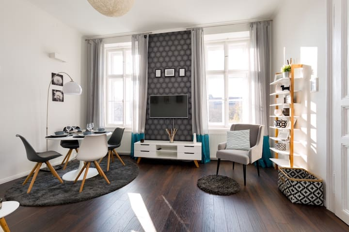 Stylish 1 bedroom apartment with park view