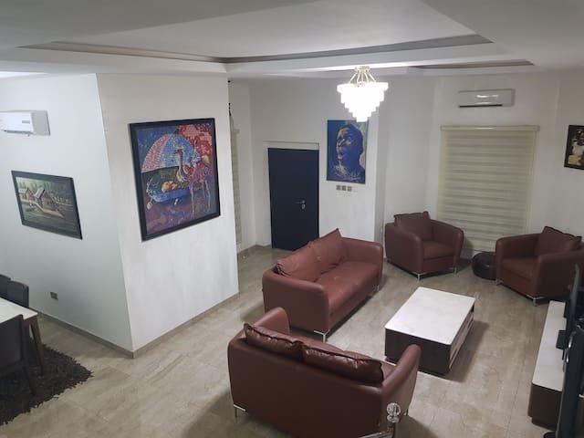 Furnished 4 bedroom duplex in a secured estate
