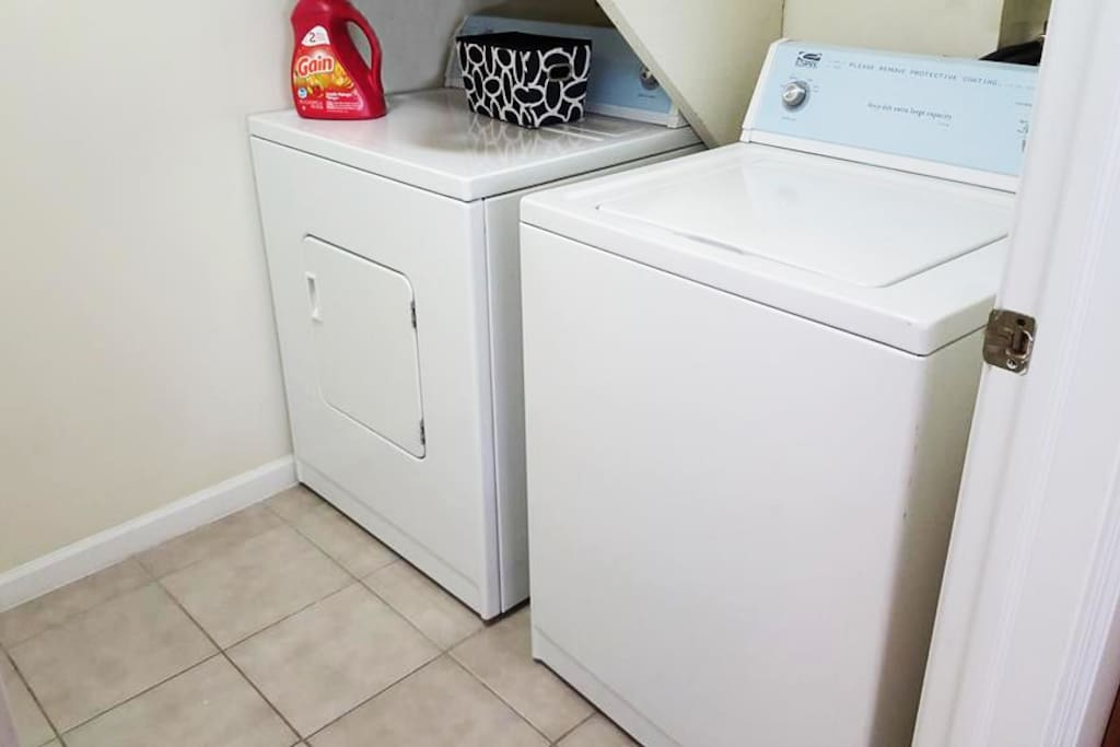 Full size washer and dryer, right in the apartment!