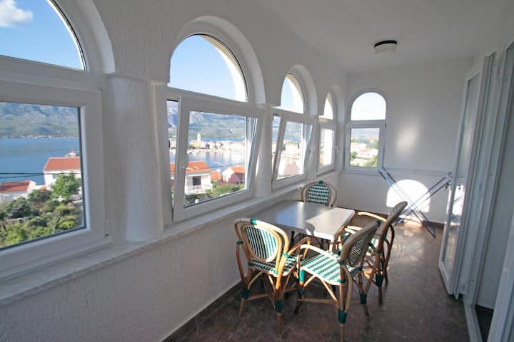 One bedroom apartment with terrace and sea view Vinjerac, Zadar (A-5811-a)