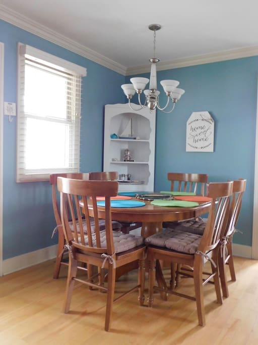 Dining Area for 6.  Highchair available upon request