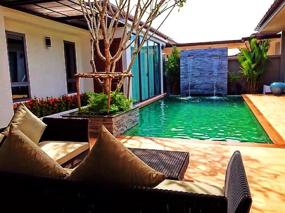 Relax with having private pool