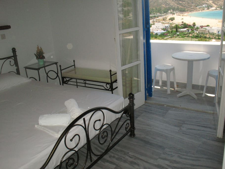 normal double room with bathroom and private balcony