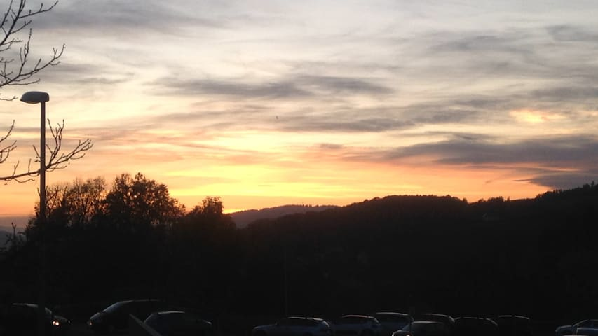 Gaconnaire mit Sonnenuntergang