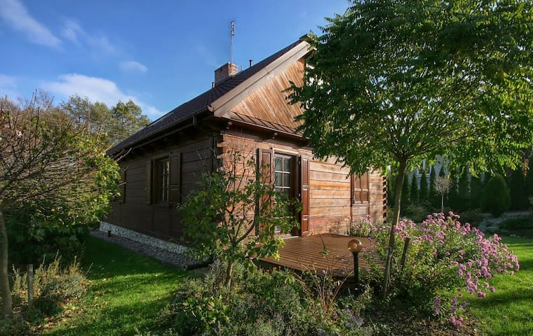 Nad Bystrą. Drewniany dom z pięknym ogrodem.