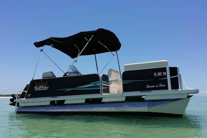 Free Pontoon Boat+Island Beach+Heated Pool
