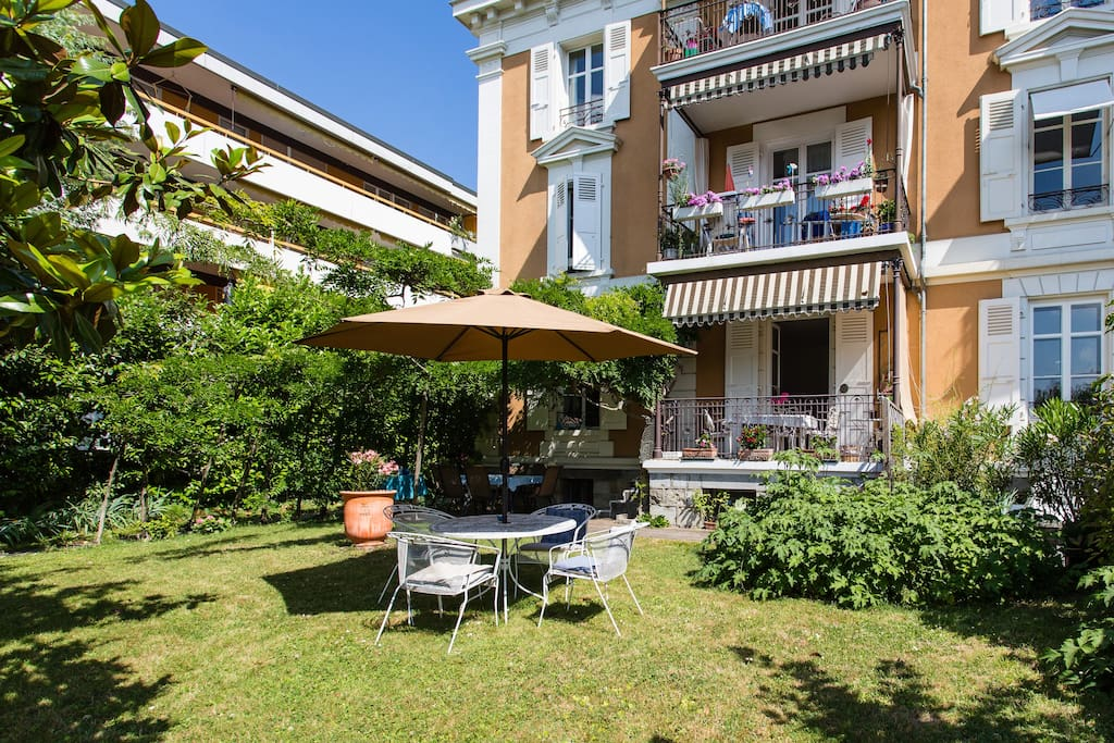 Bel appartement jardin ville apartments for rent in lausanne for Location mobilier lausanne