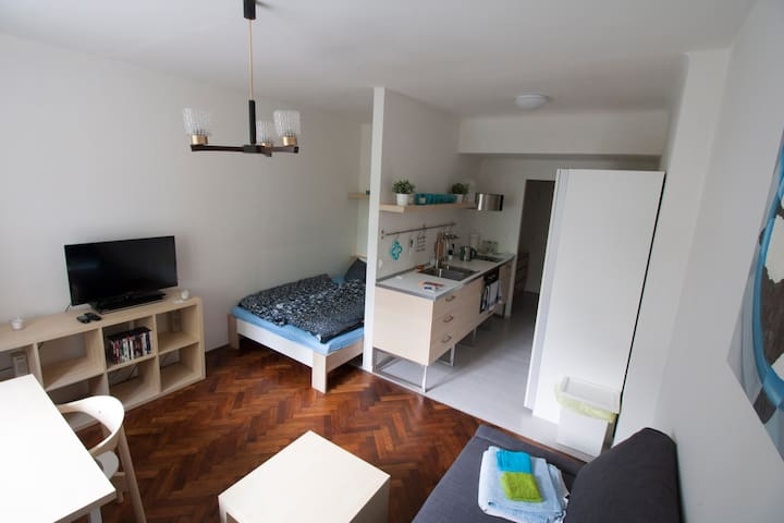 Cozy apartment, garden view ★Best rating in Brno!★ - Brno - Apartemen