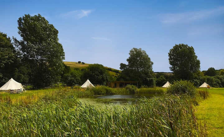 Idyllic Bell Tent Campsite - 6 Large Bell Tents