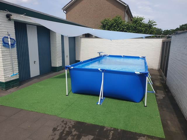 Pool is set-up from mid June till end of September.