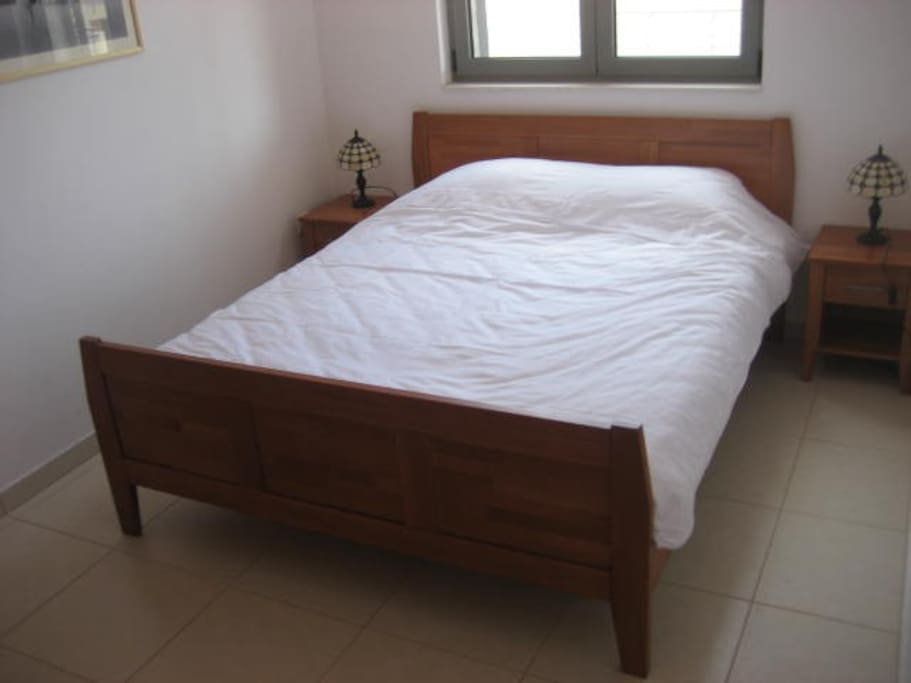 Comfy double bed and also sofa bed in living room
