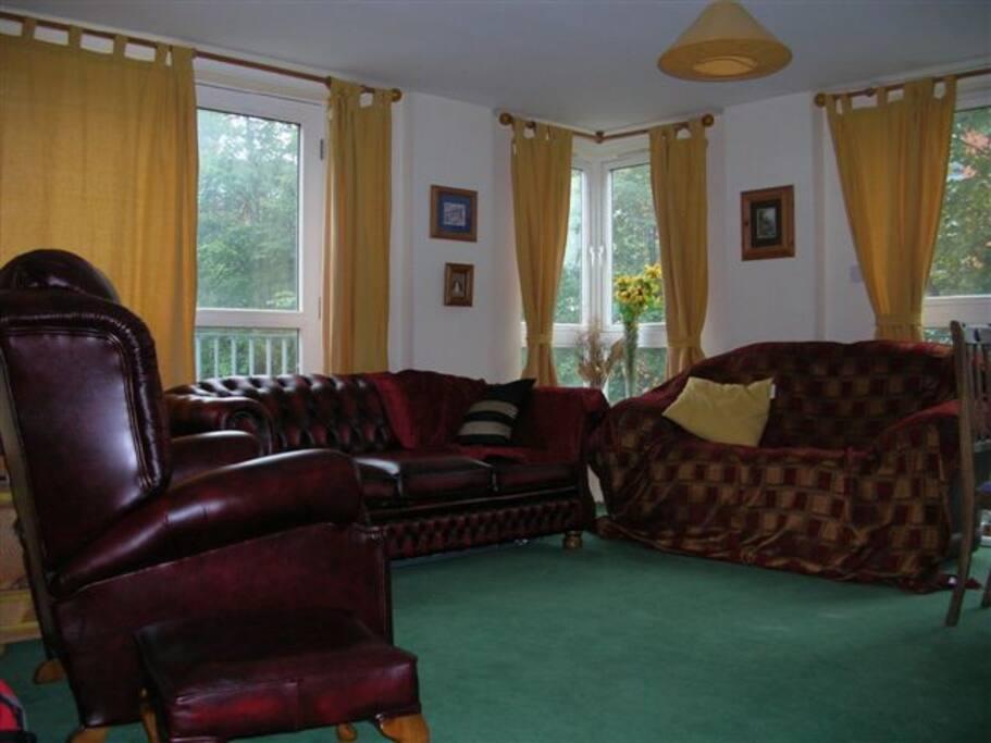 spacious indoor outdoor living space