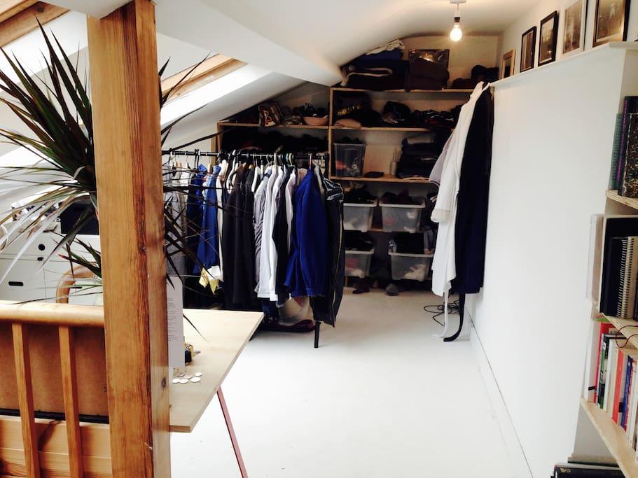 Loft bedroom (desk and closet side)