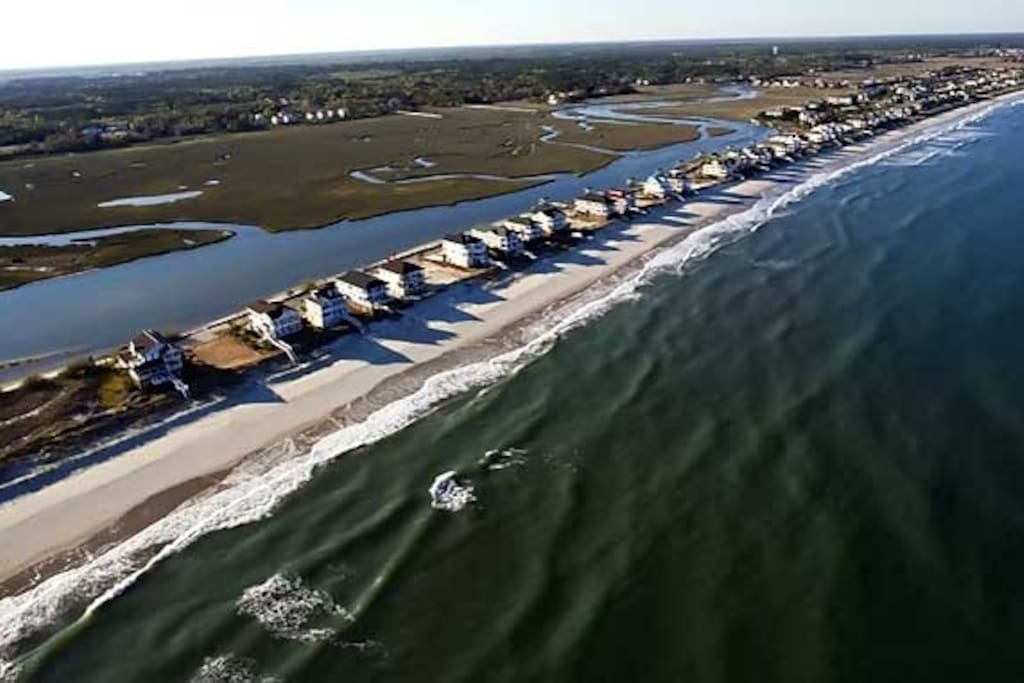 Pawleys beach has plenty of free parking and privacy