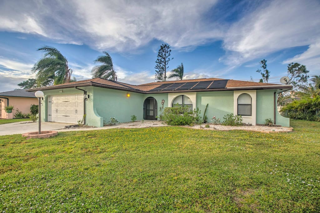 The home features a private lanai, sparkling swimming pool and a prime location, just 2 miles from Bonita Springs beaches!