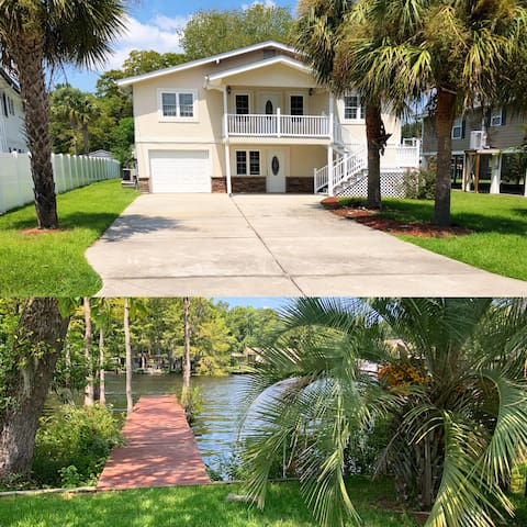 Canal House on the ICW w/ private dock! Upper Unit