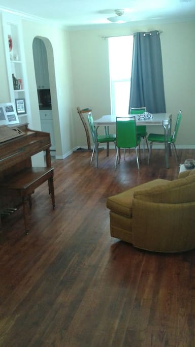 Front Room with out of tune piano
