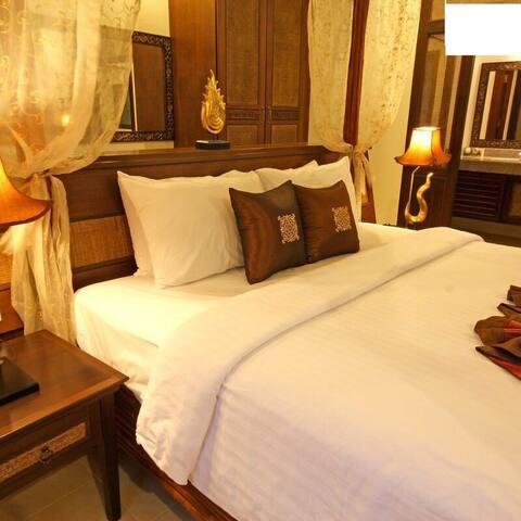 泰国芭提雅泳池别墅度假村PattayaPoolVillaTworoomTwin bed