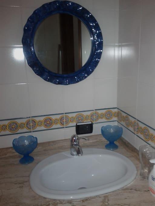 Particolare del lavabo