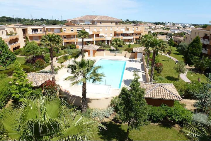 Appart 100M² - 3 chambres - Piscine chauffée-Plage
