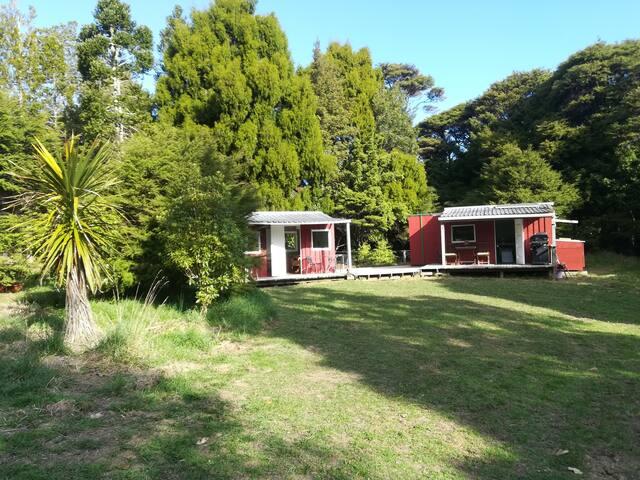 The bush huts