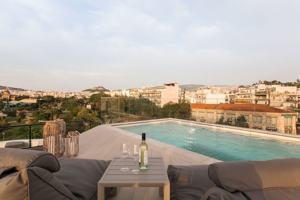 Welcome to our luxury maisonette! Private pool with amazing Acropolis view!