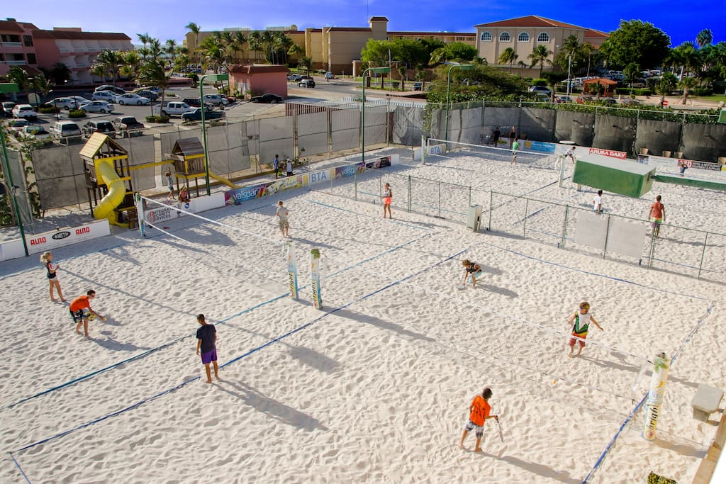 Beach Tennis facilities, with 16 lighted courts