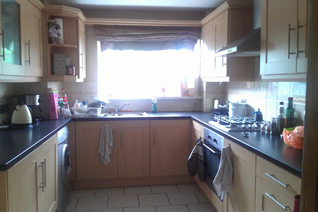 Spacious fully equipped kitchen for your use.