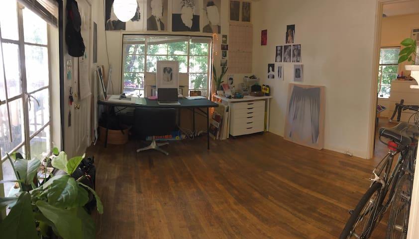 Studio/Front Room, Workspace!
