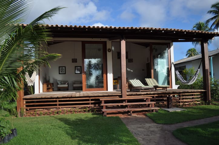 Conforto em praia virgem! Casa 1 - Porto de Pedras - Řadový dům