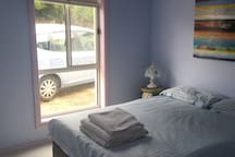 Comfortable double room, your car outside