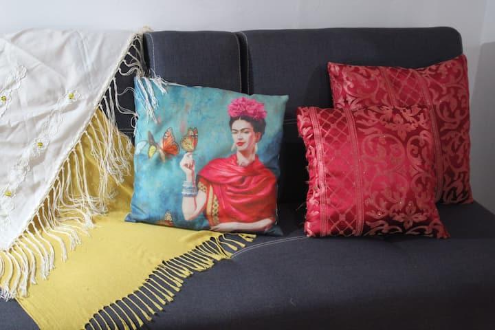 Frida's home.