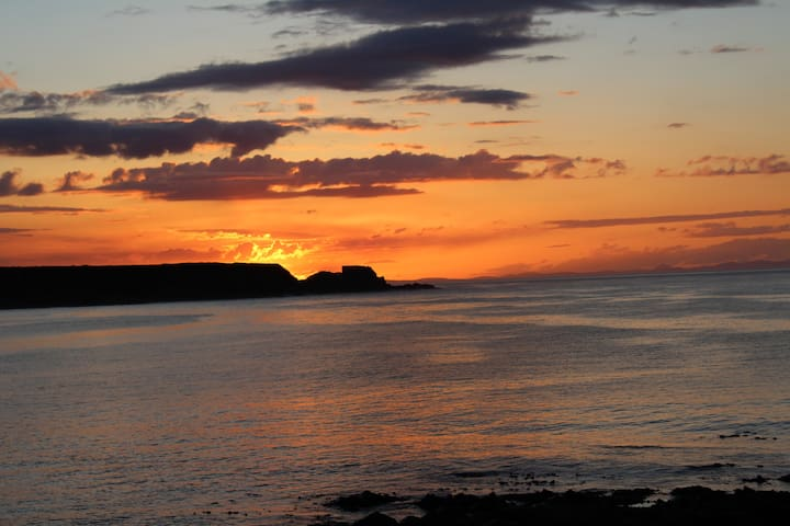 Sunsets over Cullen harbour