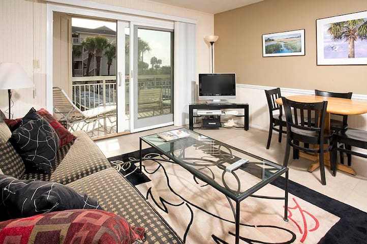 119 Breakers | Overlooks Pool w/ Slight Ocean View | Walk to Dining & Shopping @ Coligny Plaza!