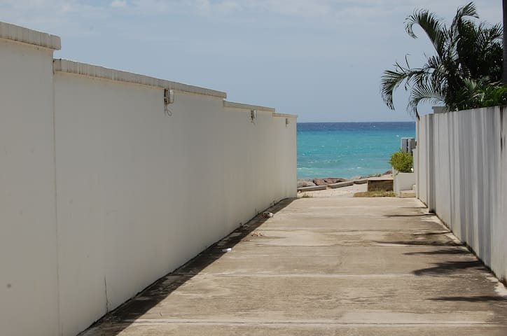 Walkway to beach nearby
