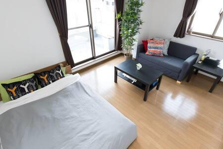 Wonderful 1 Room Apt nr STA 4min>Namba&Umeda +WiFi - Chūō-ku, Ōsaka-shi