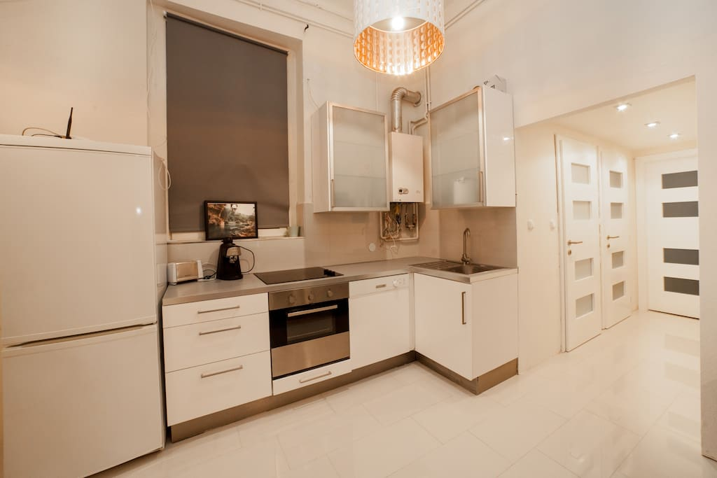 The fully equipped kitchen