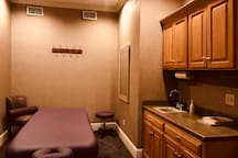 Private massage room just off the spa.