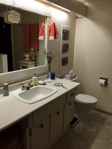 Shared spacious very clean bathroom facilities