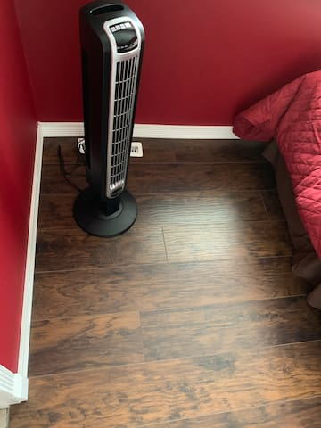 New fan & flooring