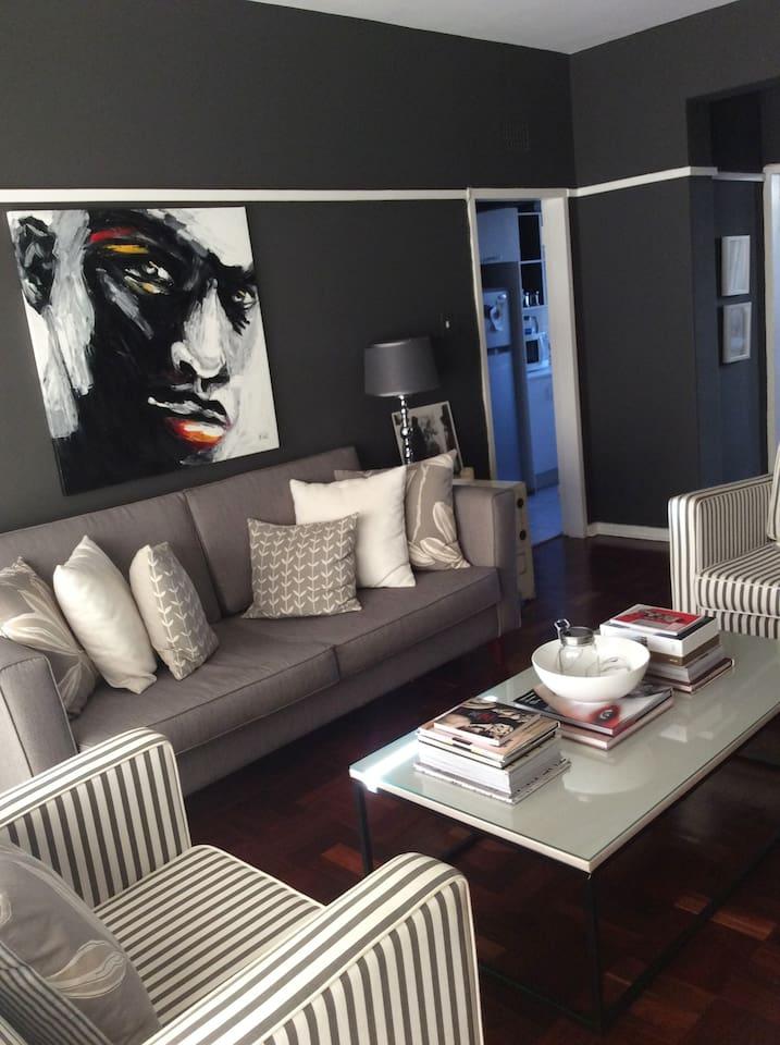 Living Room: Sleek modern interiors create a stylish living space