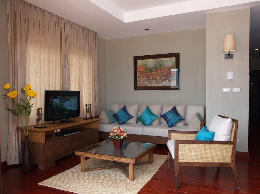 Living room with seaview