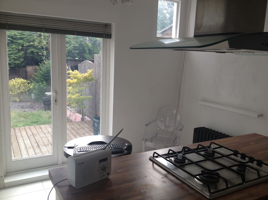 Kitchen diner with access to private garden