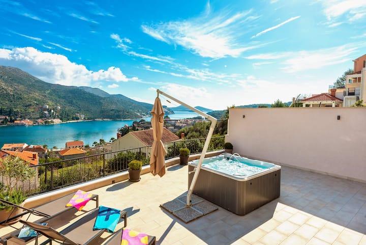 Villa Tina Dubrovnik with outdoor hot tub