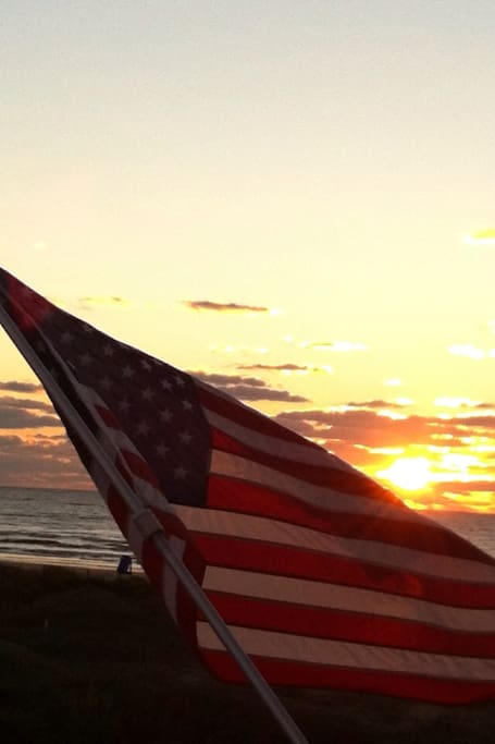 Sunrise off East Deck