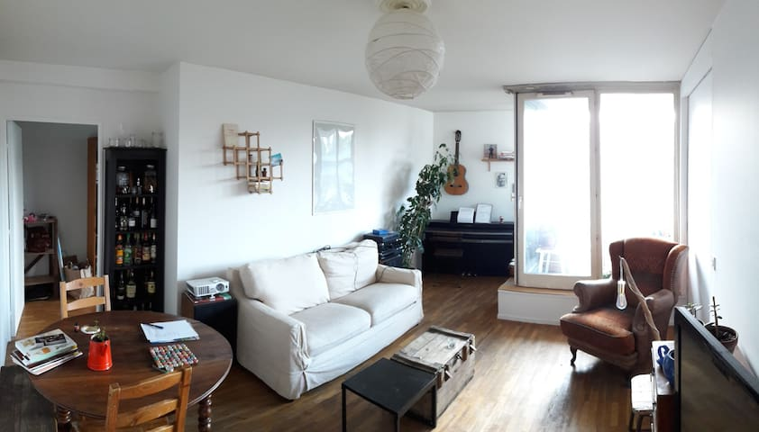 Cozy room in a calm apartment close to Ourcq Canal