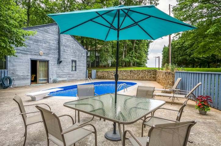 Pool Cottage at Blue Mountain House - Lynchburg - Leilighet