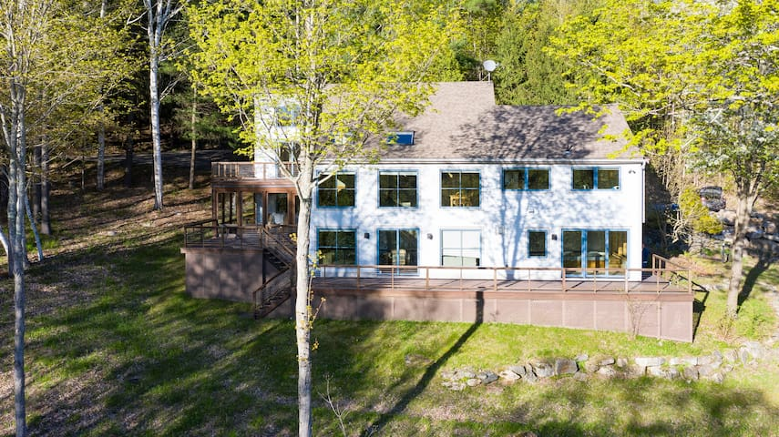 NEW LISTING SPECIAL: 10% off! Captivating Home Overlooking Stevens Lake!
